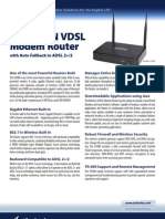 Datasheet Q1000 Wireless-N VDSL Modem Router