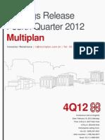4Q12 Earnings Release