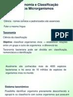 Microbiologia - Taxonomia