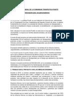 Informe General de La Comunidad Terapeutica Puntiti