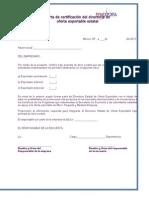 Carta de Certificación del Directorio de Oferta Exportable.doc