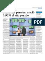 ECONOMIA PERUANA CRECIO 6.92%_2011
