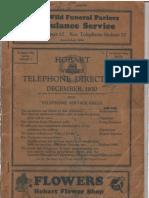 1930 Hobart Directory
