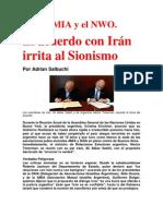 Caso AMIA y el NWO. El acuerdo con Irán irrita al Sionismo  Por Adrian Salbuchi