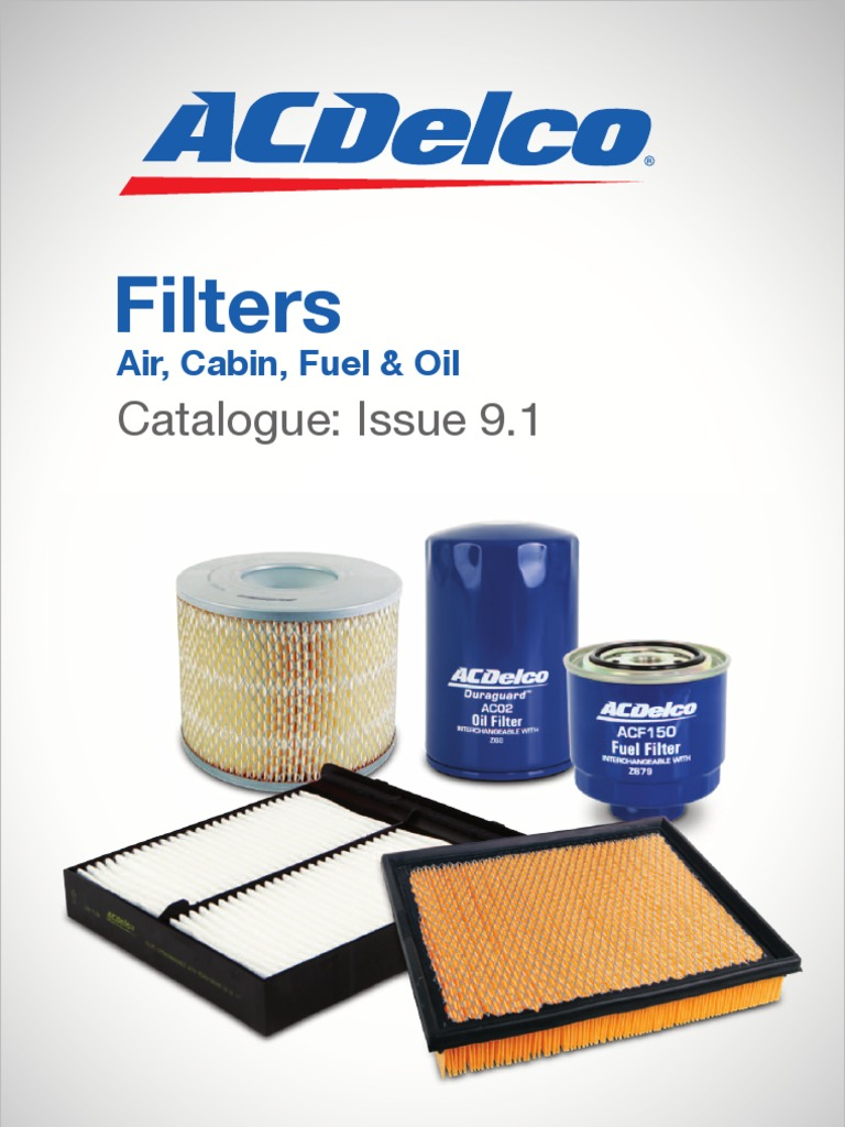 Catalogue Acdelco Filters 2006 Jeep Commander Fuel Filter