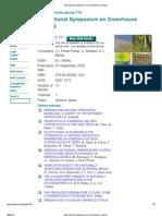 International Symposium on Greenhouse Cooling