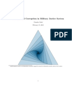 Institutional Corruption in Military Justice System