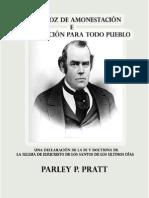 Una Voz de Amonestacion - Parley p. Pratt