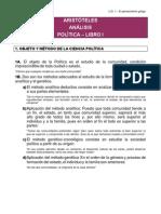 Aristoteles Politica Libro I Analisis