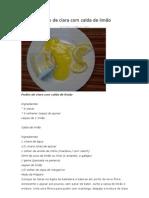 Pudim de clara com calda de limão
