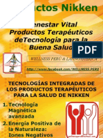 Productos para terapia de salud Nikken disponibles en Perú WELLNESS