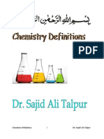 Definitions of Chemistry Terms by Dr. Sajid Ali Talpur