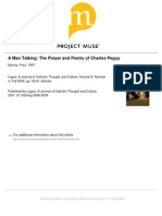 On the correspondence of Prayer and Poetry of Charles Peguy by scholar of literature and theology Paul Murray,O.P.