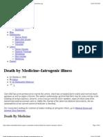 Death by Medicine–Iatrogenic illness @ www.sustainablemedicine.org