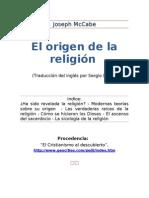 El Origen de La Religion - Joseph Mccabe
