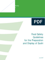 Sushi display safety