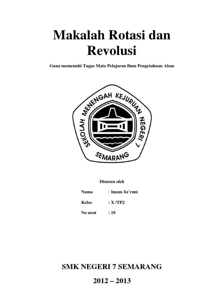 Makalah Rotasi Dan Revolusi