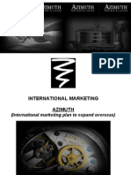 An International Marketing Plan for Azzimuth Watches