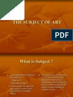 Subject of Art - Presentation