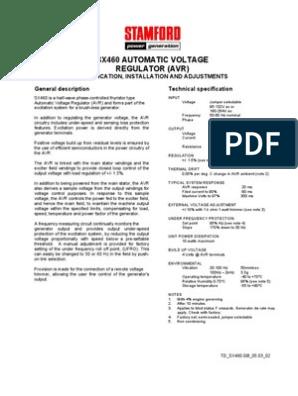 [DIAGRAM_4FR]  Voltage Regulator Stamford SX460 Avr | Sx460 Avr Wiring Diagram |  | Scribd