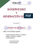 Modernismo y generacióndel 98
