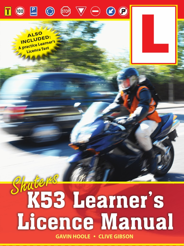 Shuters K53 Learner's Licence Manual (Look Inside) | Traffic Light | Traffic