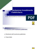 Valutazione Investimento Pubblicitario 6 Dicembre