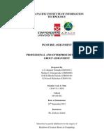 Professional and Enterprize Development - Group Component