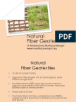 Natural Geotextiles