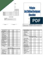 Ecd Checklist Final(Printable)