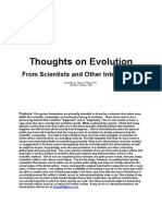 Thoughts on Evolution