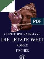 Christoph Ransmayr - Die Letzte Welt