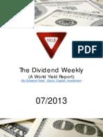 Dividend Weekly 07-2013