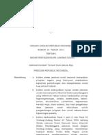 UU Nomor 24 Tahun 2011 BPJS