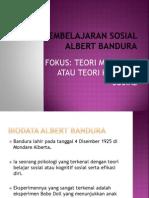 Teori Pembelajaran Sosial Albert Bandura