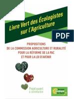 Le livre vert des écologistes sur l'agricuture