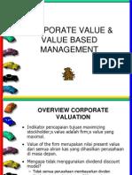 Corporate Value & Value Based Management
