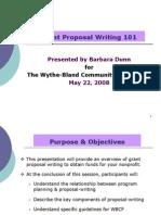 WBCFGrant Roposal WritingRevised May08