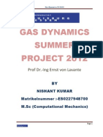 Gas Dynamics Summer Project 2012 Final