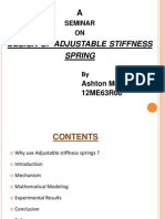 Design of Adjustable Stiffness Spring