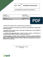 Normas e Procedimentos para condução de veículos