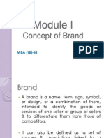 Module I_Concept of Brand