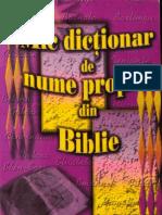 Mic Dictionar de Nume Proprii Din Biblie