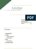 01 -HTML, XML y Eventos HTML