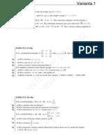 Variante matematica m2 bac 2009
