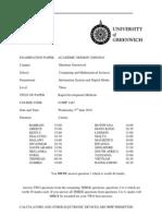 Sample of Rapid Development Methods Exam (June 2010) - UK University BSc Final Year