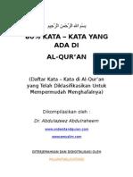 Kamus Mini Al Quran