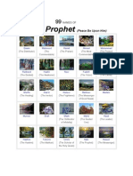 99 Names of the Holy Prophet PBUH