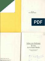 Julius Von Schlosser - El Arte de La Edad Media