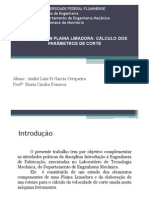 Cálculo da Velocidade de Corte da Plaina Limadora_André Luiz 2012.pdf